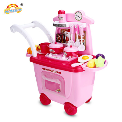 Ranxian RX1900-8 30pcs Kids Trolley Toys Children Kitchen Cooking Theme Simulation Play House Bauble