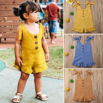 US Toddler Baby Girl 3D Sunsuit Summer Romper Jumpsuit Bodysuit Playsuit Clothes