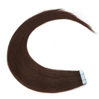 Tape in Human Hair Extensions Highlight Balayage Long Straight Skin Weft Glue in Hairpieces Invisible Double Sided Tape