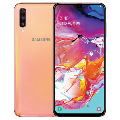 Samsung Galaxy A70 8GB128GB Coral Orange SM-A7050 4G smart phone screen fingerprint unlock all Netcom game camera mobile phone