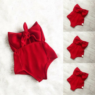 Toddler Infant Kids Baby Girl Bodysuit Romper Jumpsuit Outfit Summer Clothes