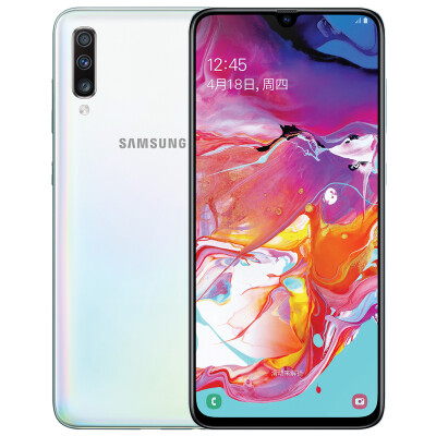 Samsung Galaxy A70 6GB128GB Pearl White SM-A7050 4G smart phone screen fingerprint unlock all Netcom game camera mobile phone self-employed