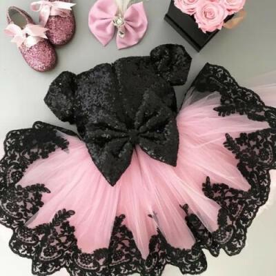 SUNSIOM XMAS Flower Girl Dress Princess Birthday Wedding Gown Formal Pageant Bridesmaid