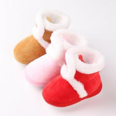 Newborn Baby Girl Toddler Fur Boots Soft Sole Crib Shoes Booties Prewalker 0-18M