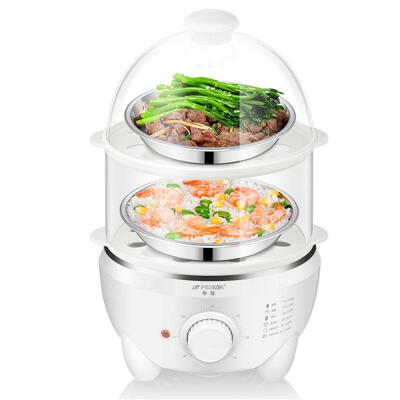Multifunctional Electric Egg Boiler Timing Cooker Steamer Automatic Power Off 350W 220V