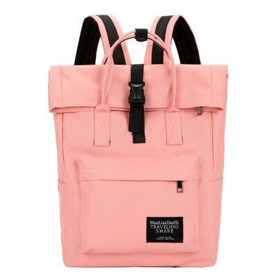 Large Capacity Canvas Backpack Female School Bag Simple Design Rucksack Women Laptop Bag Handbag