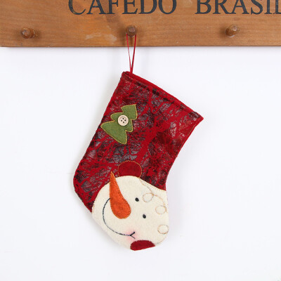 〖Follure〗Christmas gifts Candy Beads Christmas Santa Claus Snowman Socks Decorations A