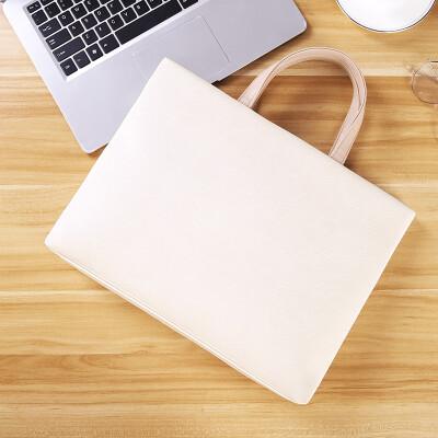 Ninth City VNINE Millet 14-inch computer bag sleek minimalist lady portable Huawei glory notebook liner bag VD9BV12885J beige