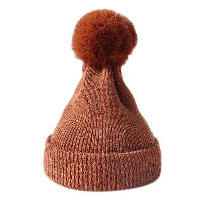 Children Boy Girl Winter Knitted Beanie Hat Scarf Dual Use Kids Warm Ski Cap New