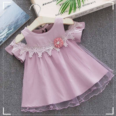 Girl Dress New Baby Dresses Flower Birthday Dress Newborn Cotton Mesh Dresses Baby Summer Clothes Kids Girl Clothes
