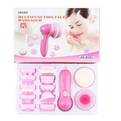 12 in 1 Multifunction Electrical Facial Cleansing Brush Face Body Massager Kit