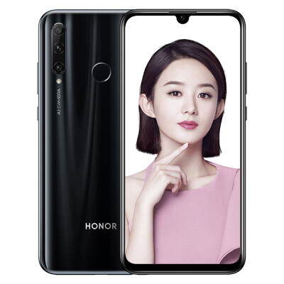 Honor 20i 32 million AI self-timer super wide-angle three-shot full Netcom version 6GB64GB Fantasy black mobile Unicom Telecom 4G full-screen mobile phone dual