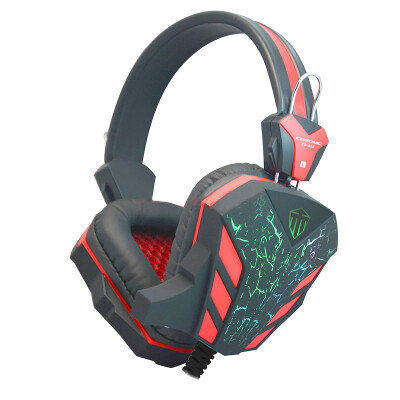 Gaming Headset Surround Stereo Headband Headphone USB 3.5mm LED With Mic For PC-580121E