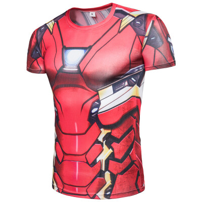Marvel fashion mens T-shirt anime adult shirt Captain America Superman Iron Man&other role-playing T-shirt