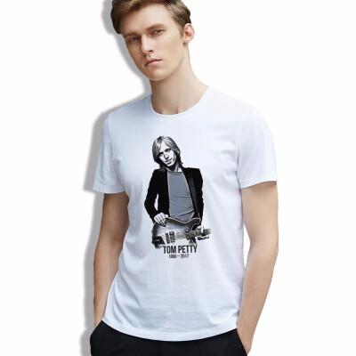 Vintage Musician Men Tshirt Tom Petty American Pop Retro Hipster clothing Cool Short Sleeve Printed Hot Tops