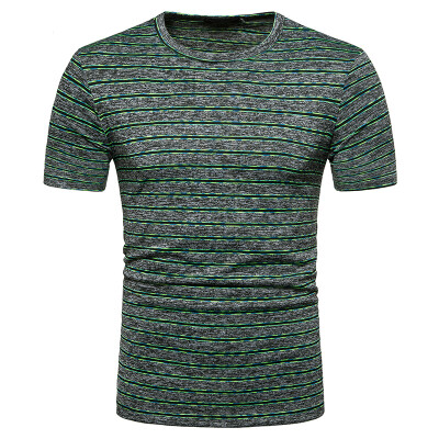 JCCHENFS 2018 New Short Sleeve Men T-Shirt Fashion Striped O-Neck Streetwear Summer Short Tops Tees Fitness Mens Brand Clothing