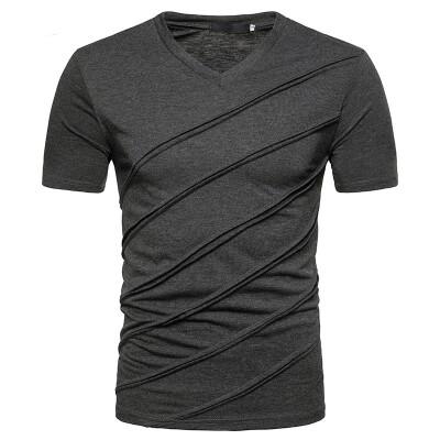 JCCHENFS 2018 Fashion Patchwork Striped T-Shirts Summer Short Sleeve Mens T-Shirt Tops Cotton Brand Casual T Shirt For Men