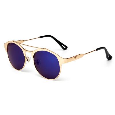 FEIDU Brand Vintage Metal Round Sunglasses Women Coating Mirror Sun Glasses For Women Oculos De Sol Feminino Steampunk