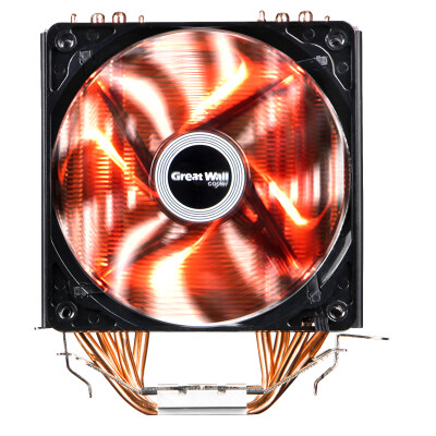 Great Wall Frost Dragon 400 CPU Radiator multi-platform support AM4 4 heat pipe intelligent temperature control blue light 12CM fan with silicone grease