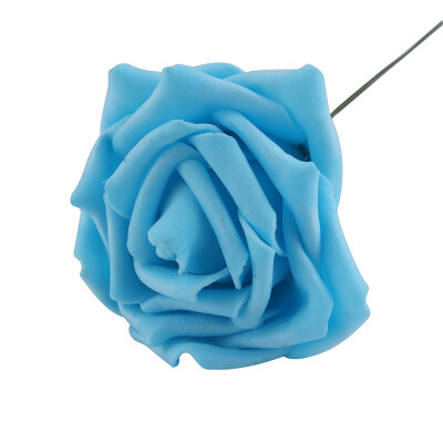 NicerDIcer New Artificial Foam Rose Bouquet Floral Flowers Bridal Wedding Decor 7cm