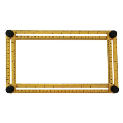 KKMOON Multi-Angle Ruler Template Tool Measures All Angles Forms for Handymen Builders Craftsmen Repetitive Spacing