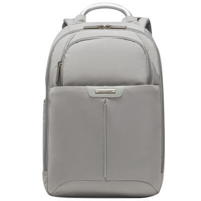 Samsonite / New Beauty Korean casual travel backpack female 13 inch business computer bag zipper shoulder bag BP2 * 28002 light gray