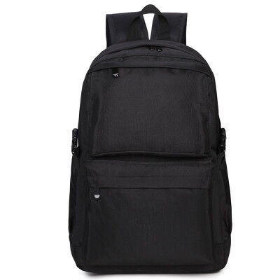 Fragrant children XIASUAR shoulder bag ladies Korean version of the backpack simple travel bag large-capacity school bag school wave male 789 black