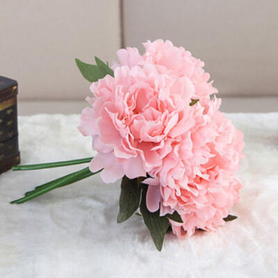 New 1x Artificial Peony Flowers Silk Bouquet Bridal Home Wedding Decoration DIY