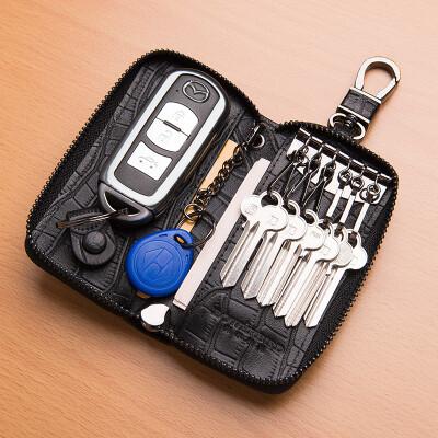 BOWERBIRD Mens Key Bag Multifunction Leather Fashion Car Key Purse 189080411 Black