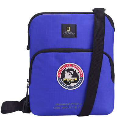 National Geographic (NATIONAL GEOGRAPHIC) men and women shoulder Messenger bag fashion casual shoulder Messenger bag business sports package N01112-45 blue