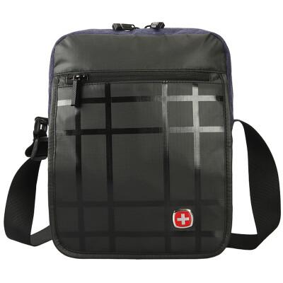 Swiss Army knife Wige (Wenger) Messenger bag men and women fashion splash water business leisure IPAD bag shoulder large capacity leisure package black SAB52016109029