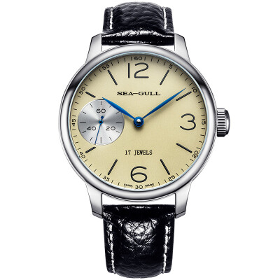 Seagull (SeaGull) watch business casual series fashion simple simple automatic mechanical male watch white plate steel base through the end section 816.355