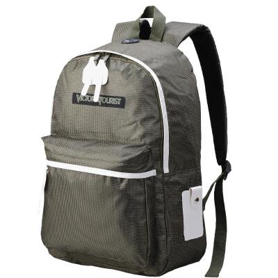Victoriaatourist Victorian traveler 15 inch waterproof computer backpack polyester fashion simple men and women notebook bag shoulder bag V1001 black