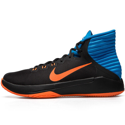 Nike nike men's shoes autumn and winter new Prime Hype sports high to help combat basketball shoes DF 844788-003 black / bright orange / photo blue / dark gray 40