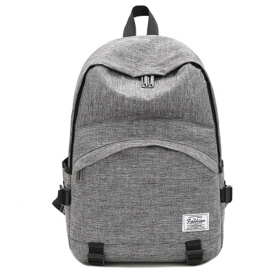 Thousands of summer shoulder bag female Korean version of the tide simple color simple large-capacity backpack college wind high school student bag female 889 gray
