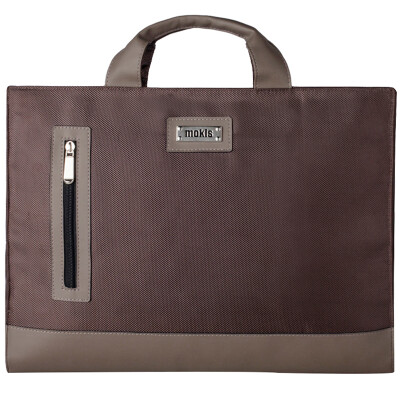 Mochi (MOKIS) computer bag 15.4 inch -15.6 inch Apple Lenovo ASUS Dell portable notebook computer bag business package leisure package MKDNB020-b business brown