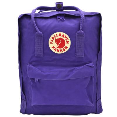 Arctic Fox (Fjallraven) waterproof wear-resistant backpack simple fashion casual shoulder bag Kanken Classic 23510 580 is purple 16L