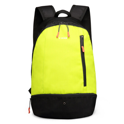 Ninth City (V.NINE) shoulder bag large capacity sports backpack student bag basketball bag soccer bag independent shoe warehouse VD6BV97031J black and yellow