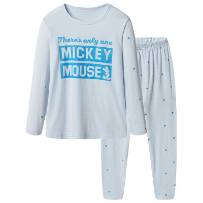 Disney children's suit cotton underwear suit boys and girls baby autumn home clothes pajamas 28783D0 angel blue 130