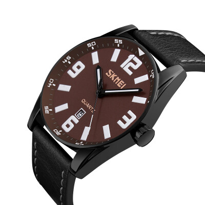 Moment beauty skmei watch men&39s sports leisure fashion three-dimensional scale quartz watch 9137 brown