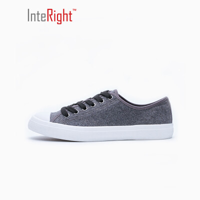 INTERIGHT Women &39s fashionable woolen low to help sports shoes DW06 gray 36