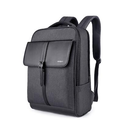Antler shoulder bag 15.6-inch men's backpack casual business book bag female large-capacity notebook bag A703473 black