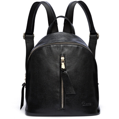 Ke Lu Chi (CLUCI) shoulder bag female simple lightweight large capacity backpack travel bag bag CW6171031 black