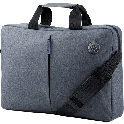 Hewlett Packard (HP) 15.4-15.6 inch men and women business computer package fashion cross section briefcase light handbag Messenger bag G8Y15AA gray