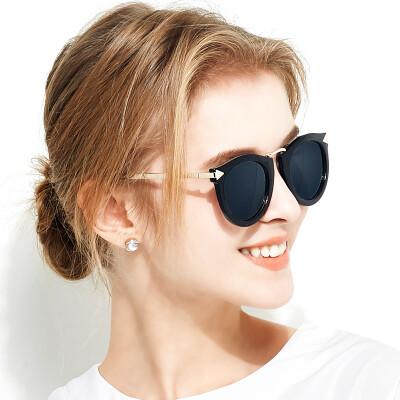 Blue (Bluekiki) polarized sunglasses large frame driving sunglasses color film sunglasses female sunglasses 7024 black box ice blue
