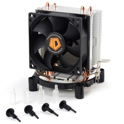 ID-COOLING SE-802 multi-platform tower side blowing CPU cooler dual heat pipe 8cm silent fan compatible small chassis