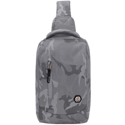 Slick (SCALER) satchels men and women canvas sports leisure shoulder shoulder multi-function Messenger bag tide package chest bag small backpack Z8346185 gray