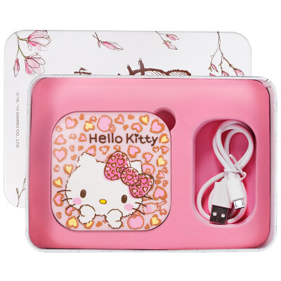 44bf943af HELLO KITTY Creative Gifts Portable LED Charger Po Cosmetics Birthday Gift  Female Valentine&39s Day Gift Company Benefits 6000mm Pink Leopard KT1509