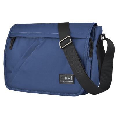Mi Xi single shoulder bag male sports leisure Messenger bag men fashion multi-functional cover double buckle men&39s messenger bag bag male wave cloth bag blue 12 inch M5177