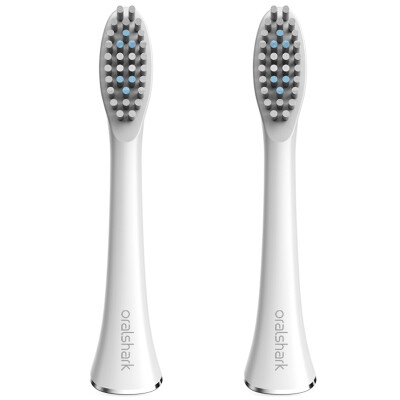 Oralshark G1 sonic electric toothbrush professional brush head 2 loaded white